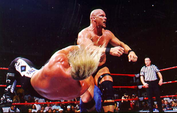 Picture Of Austin Taking Down HHH